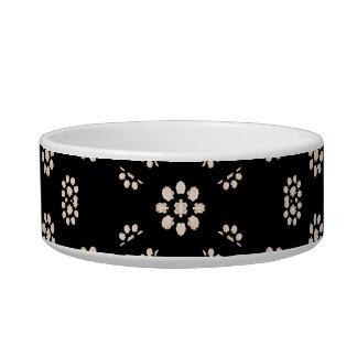 Dark Ditsy Floral Pattern Bowl