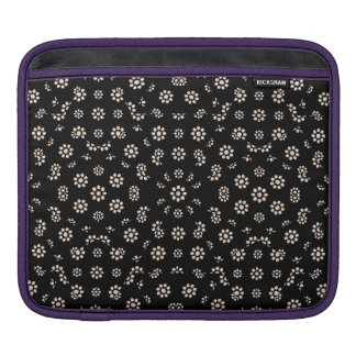 Dark Ditsy Floral Pattern iPad Sleeve