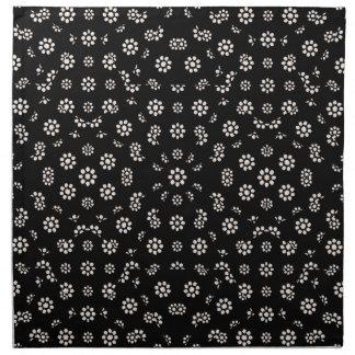 Dark Ditsy Floral Pattern Napkin