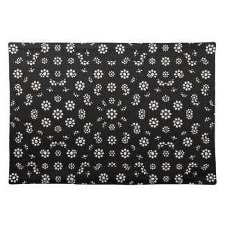 Dark Ditsy Floral Pattern Placemat
