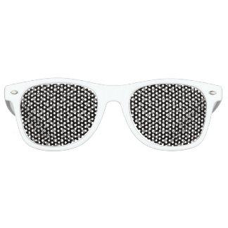 Dark Ditsy Floral Pattern Retro Sunglasses