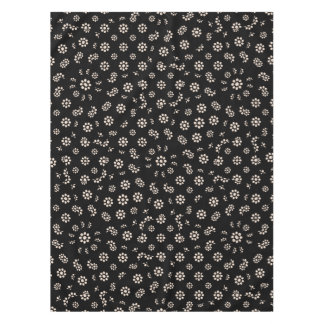 Dark Ditsy Floral Pattern Tablecloth
