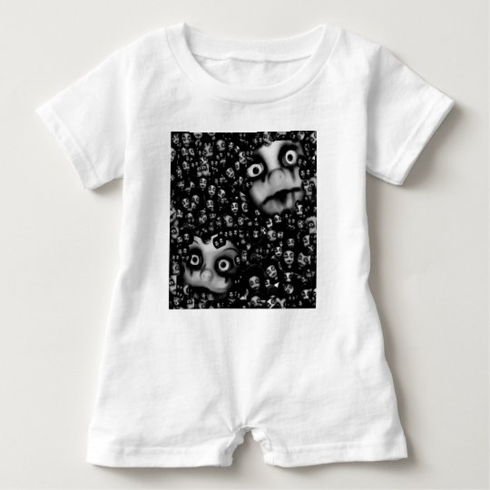 Dark dolls scary products baby romper