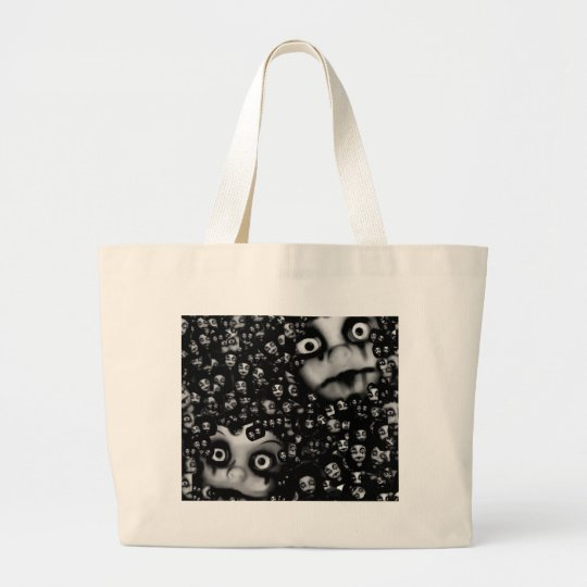 Dark dolls scary products large tote bag