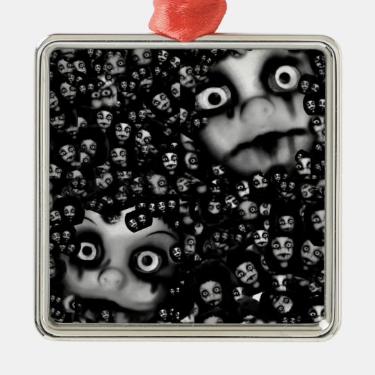 Dark dolls scary products metal ornament