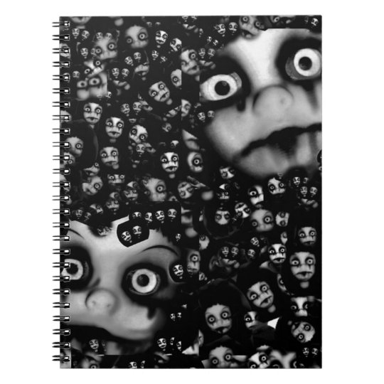 Dark dolls scary products notebooks
