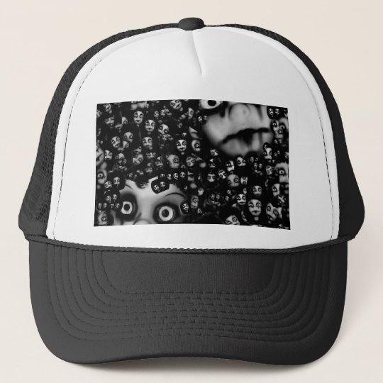 Dark dolls scary products trucker hat