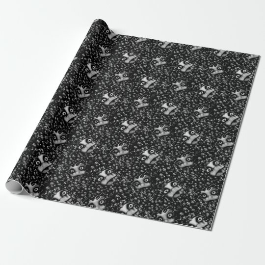 Dark dolls scary products wrapping paper