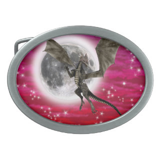 Dark Dragon Oval Belt Buckles