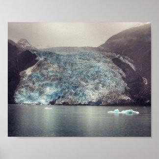 Dark & Dramatic Alaska Glacier | Poster