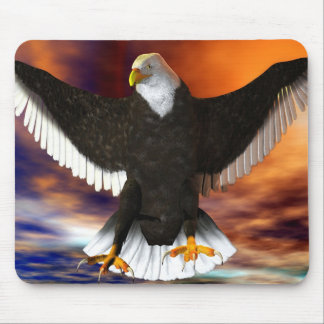 dark eagle mouse pad