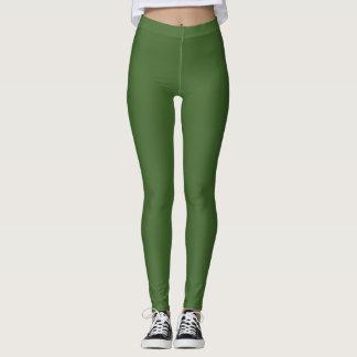 Dark Earth Green Leggings