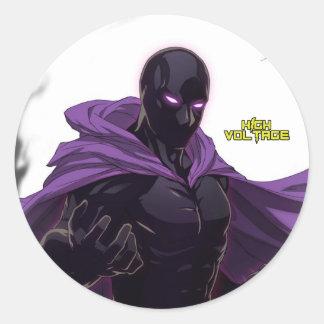 Dark Eclipse Round Stickers