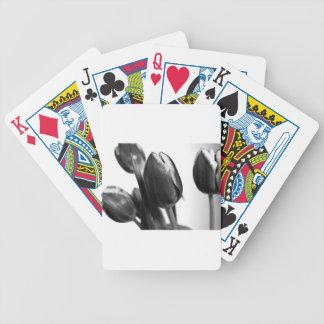 Dark Elegance OF Tulips Bicycle Playing Cards