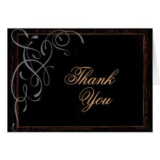 Dark Elegance - Thank You Card