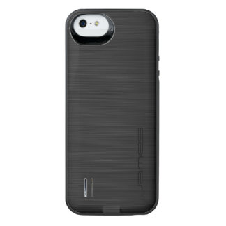 dark elegant perforated metal personalized by name iPhone SE/5/5s battery case