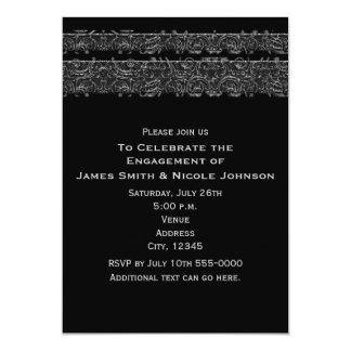 Dark Elegant Satin Ribbon Elegant Gothic Wedding Card