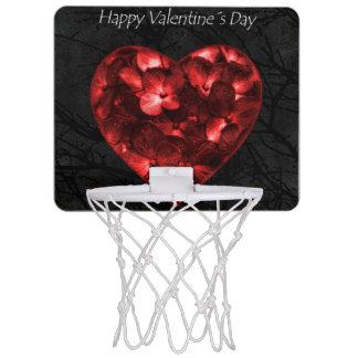 Dark Elegant Valentine Day Poster Mini Basketball Hoop
