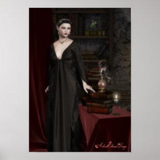 Dark Elven Fantasy Poster