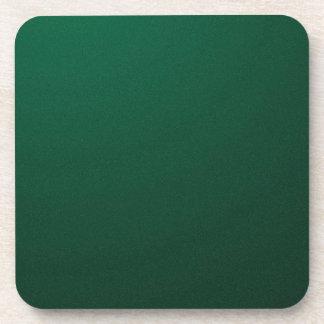 DARK EMERALD (a dark green design with fade) ~ Coaster