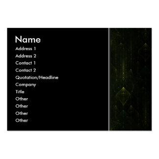 Dark Emerald Green Faces. Fractal Art. Business Card Template