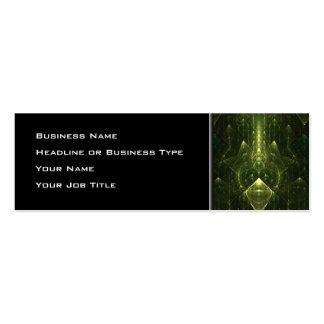 Dark Emerald Green Faces. Fractal Art. Business Card Templates