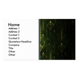 Dark Emerald Green Faces. Fractal Art. Business Cards