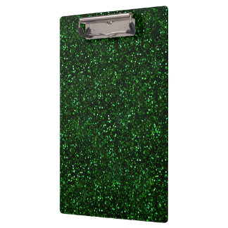 Dark Emerald Green Glitter Clipboard