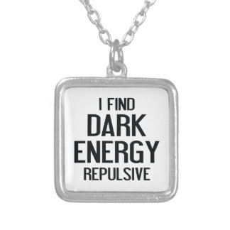 Dark Energy Silver Plated Necklace