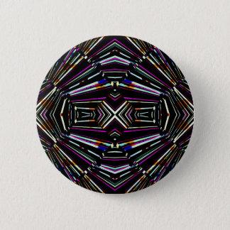 Dark Ethnic Sharp Bold Pattern 2 Inch Round Button