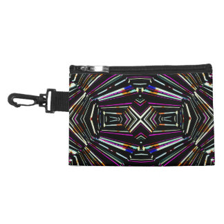 Dark Ethnic Sharp Bold Pattern Accessory Bag