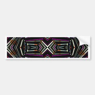 Dark Ethnic Sharp Bold Pattern Bumper Sticker