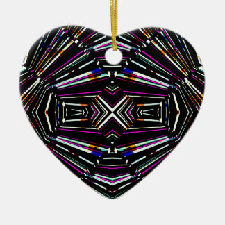 Dark Ethnic Sharp Bold Pattern Ceramic Ornament