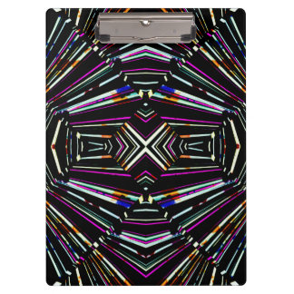 Dark Ethnic Sharp Bold Pattern Clipboard