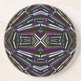 Dark Ethnic Sharp Bold Pattern Coaster