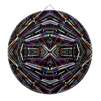 Dark Ethnic Sharp Bold Pattern Dartboard