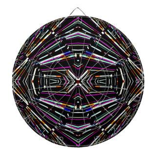 Dark Ethnic Sharp Bold Pattern Dartboard With Darts