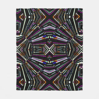 Dark Ethnic Sharp Bold Pattern Fleece Blanket