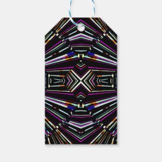 Dark Ethnic Sharp Bold Pattern Gift Tags