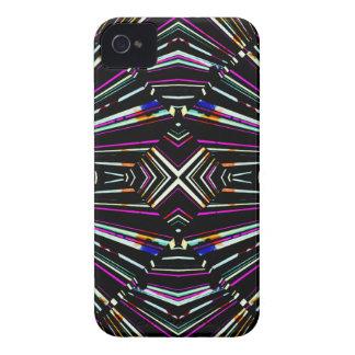 Dark Ethnic Sharp Bold Pattern iPhone 4 Case