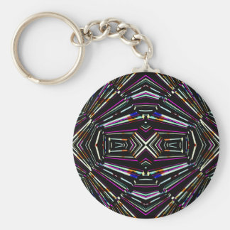 Dark Ethnic Sharp Bold Pattern Keychain