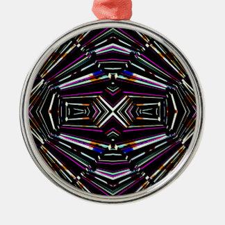 Dark Ethnic Sharp Bold Pattern Metal Ornament