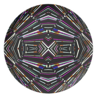 Dark Ethnic Sharp Bold Pattern Plate