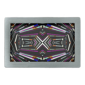 Dark Ethnic Sharp Bold Pattern Rectangular Belt Buckle