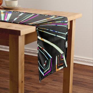 Dark Ethnic Sharp Bold Pattern Short Table Runner