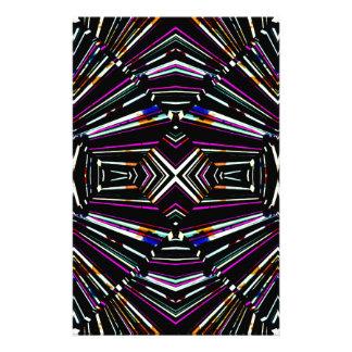 Dark Ethnic Sharp Bold Pattern Stationery