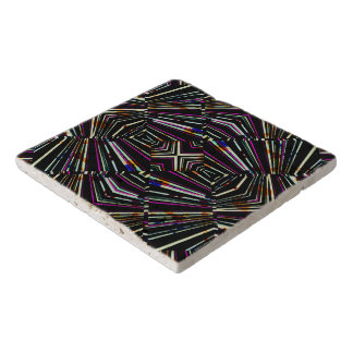 Dark Ethnic Sharp Bold Pattern Trivet