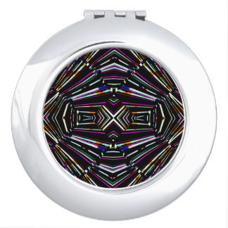 Dark Ethnic Sharp Bold Pattern Vanity Mirrors