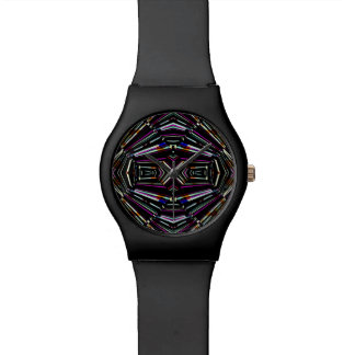 Dark Ethnic Sharp Bold Pattern Watch