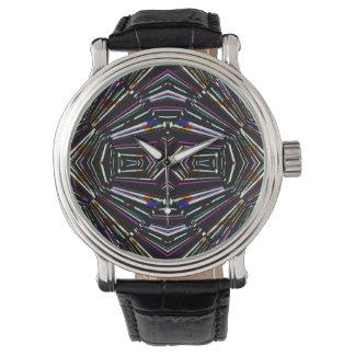 Dark Ethnic Sharp Bold Pattern Watch